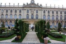 jardin devant l'Hôtel de ville de Nacy
