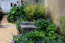 Un coin repos contemplatif parmi les bleuets